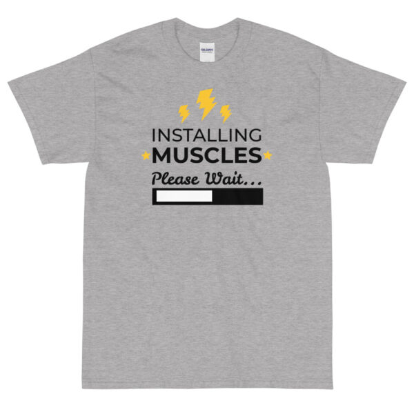 "Herren-T-Shirt ""Installing Muscles"""